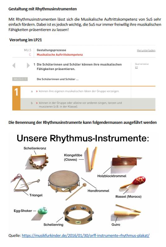 Preview image for LOM object Gestaltungsprozesse mit Rhythmusinstrumenten