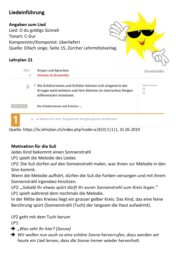 Preview image for LOM object Liedeinführungen