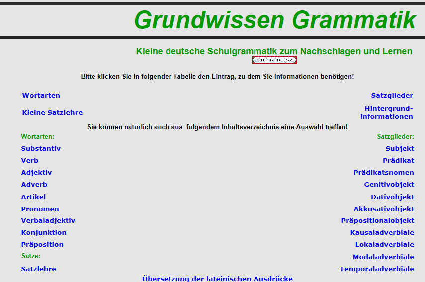Preview image for LOM object Grammatik der deutschen Sprache