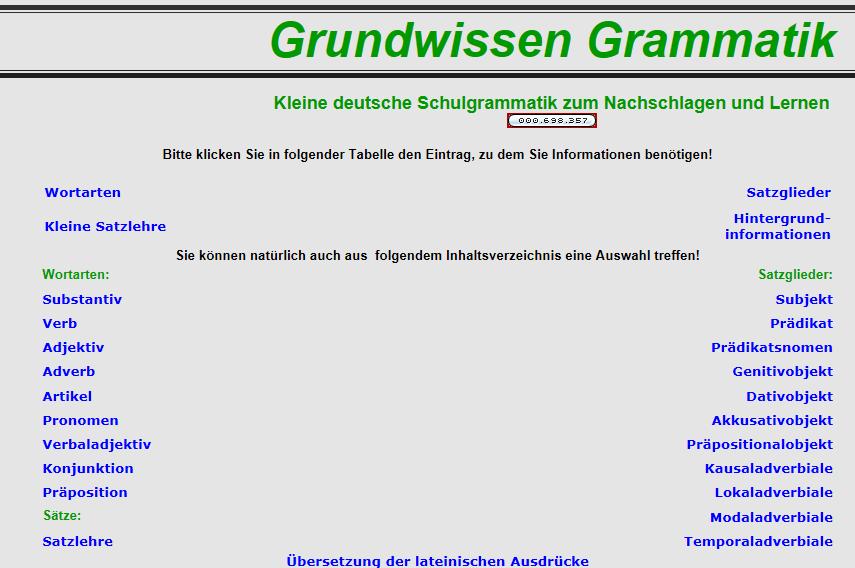 Preview image for LOM object Grammatik der deutschen Sprache