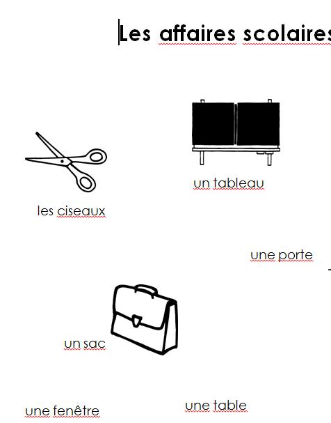Preview image for LOM object Merkblatt les affaires scolaires