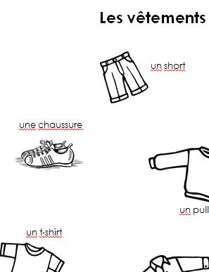 Preview image for LOM object Merkblatt les vêtements