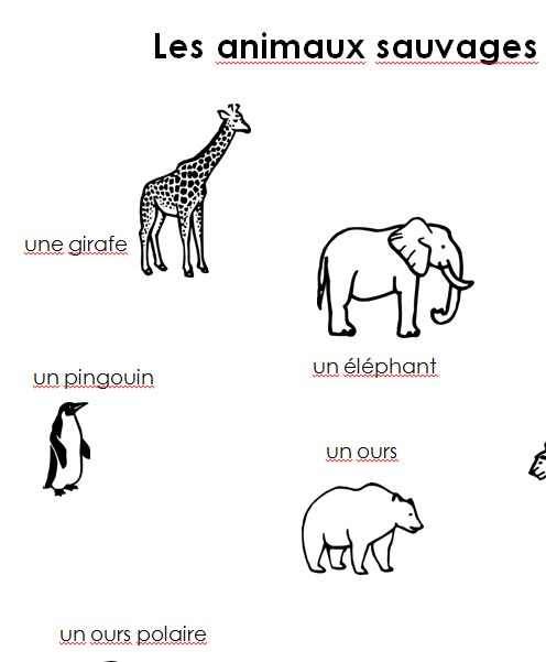 Preview image for LOM object Merkblatt les animaux sauvages