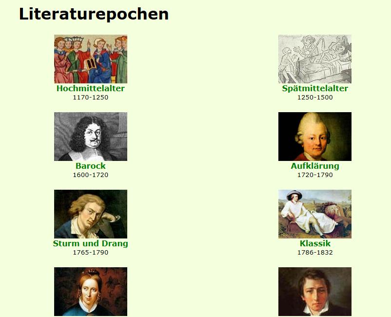 Preview image for LOM object Epochen der Literaturgeschichte