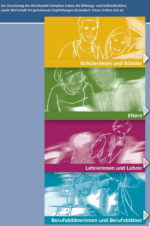 Preview image for LOM object Informationen und Empfehlungen zum Berufswahlprozess im Kanton Uri