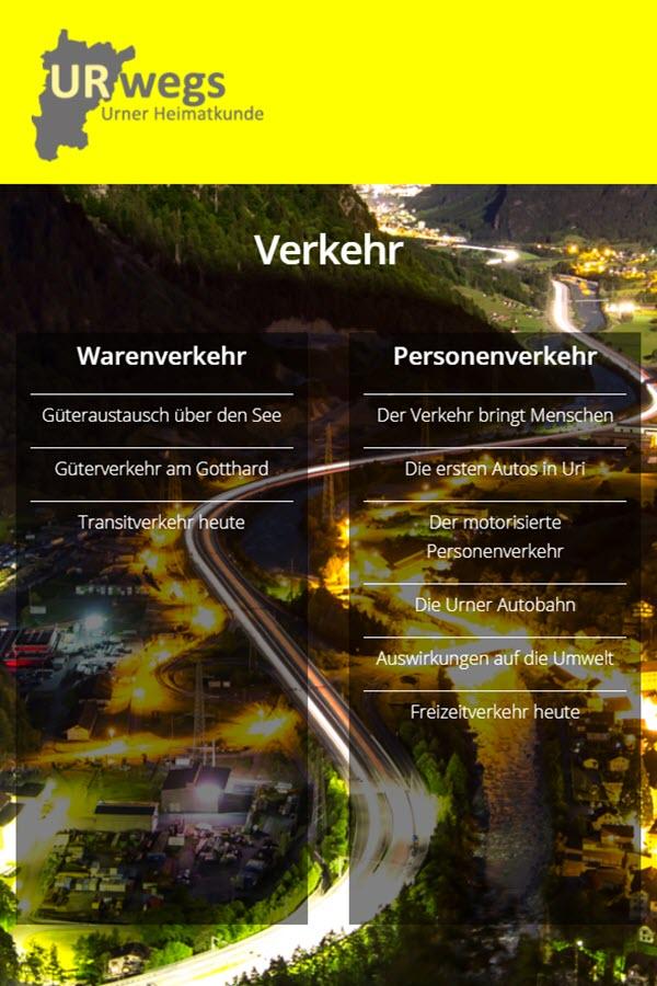 """Preview image for LOM object Verkehr/Gotthard - """"URwegs"""" Lehrmittel zur Urner Heimatkunde"""