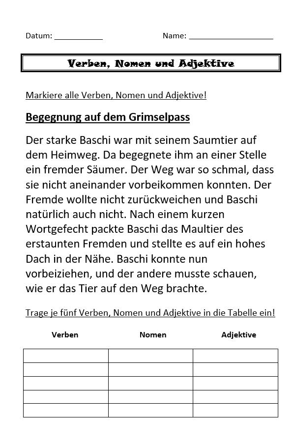 Preview image for LOM object Verben, Nomen, Adjektive