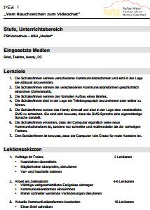 Preview image for LOM object Vom Rauchzeichen zum Videochat