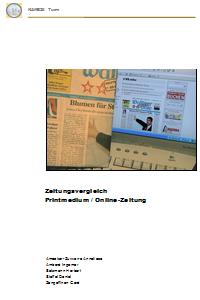 Preview image for LOM object Zeitungsvergleich Printmedien - Onlinezeitung
