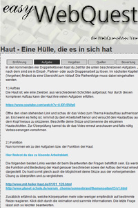 Preview image for LOM object Easy WebQuest (Informationsrecherche im Internet)