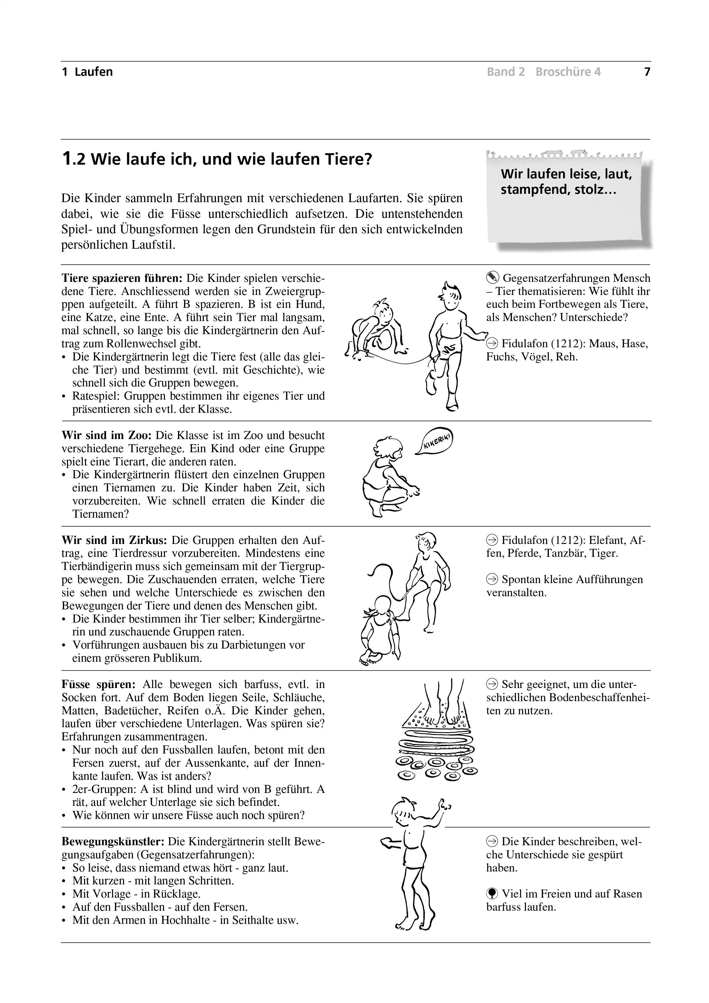 Preview image for LOM object Wie laufe ich, und wie laufen Tiere?