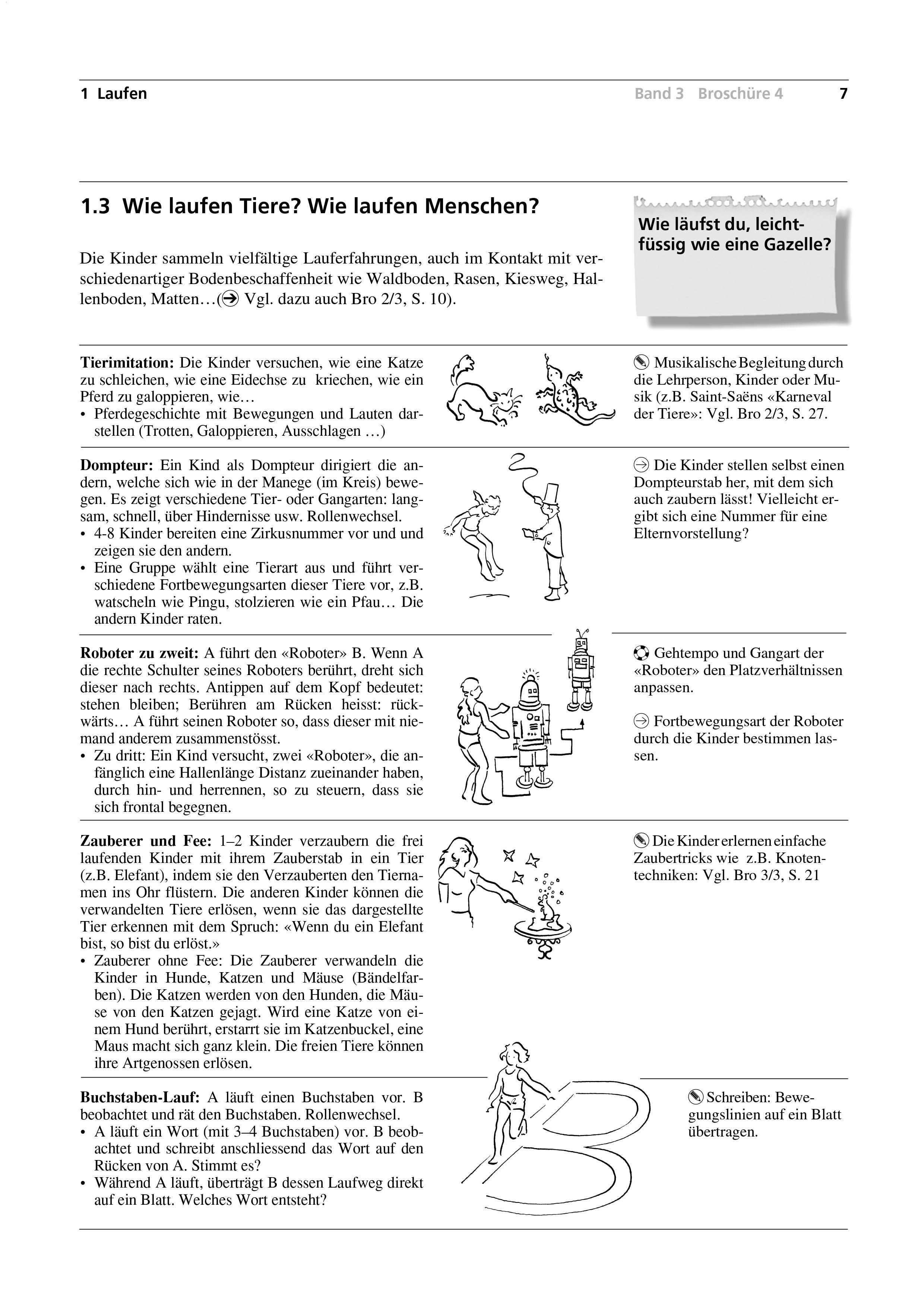 Preview image for LOM object Wie laufen Tiere? Wie laufen Menschen?