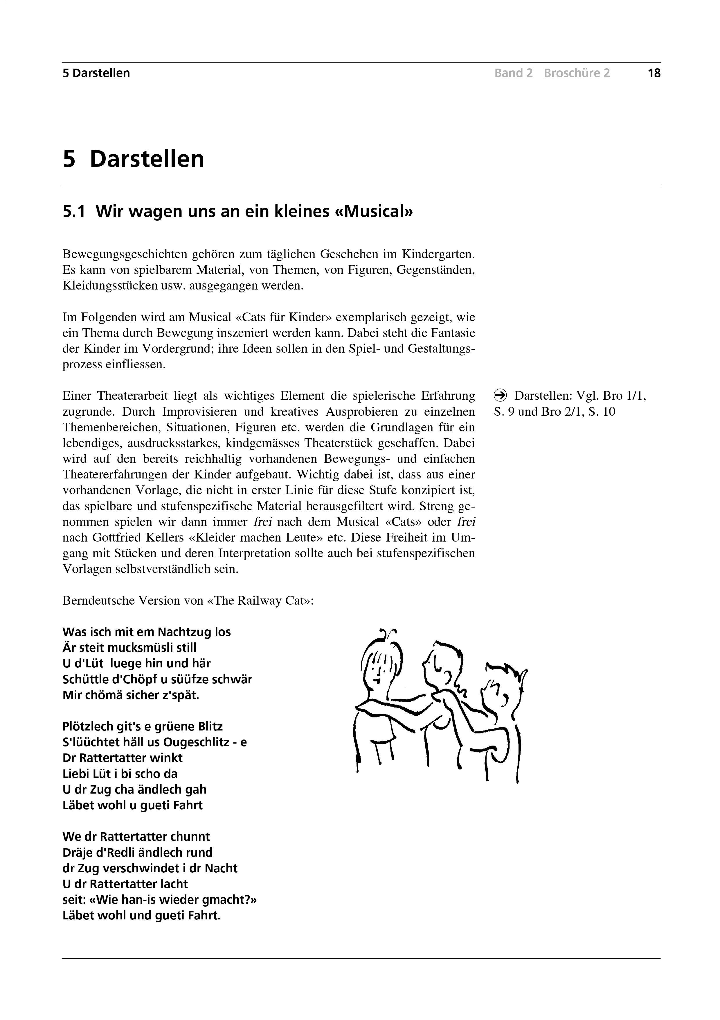 """Preview image for LOM object Wir wagen uns an ein kleines """"Musical"""" / Vom Spielen zum kindgerechten """"Musical"""""""
