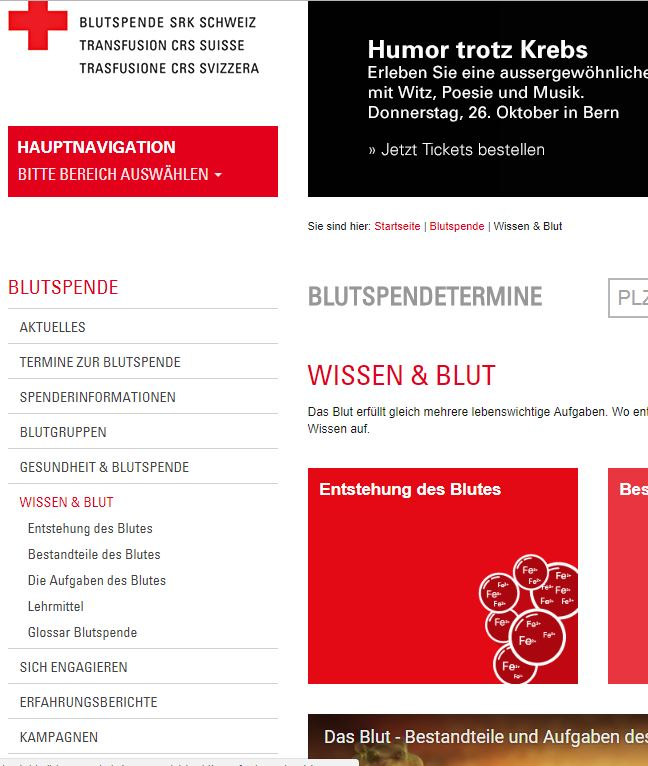 Preview image for LOM object blutspende.ch