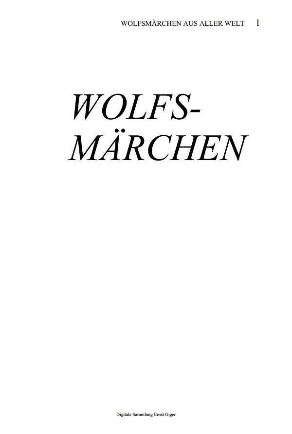 Preview image for LOM object Wolfsmärchen