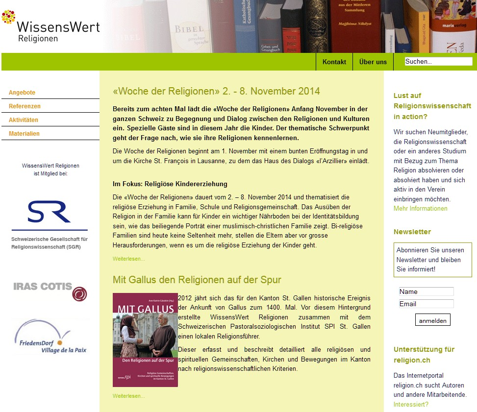Preview image for LOM object Wissenswert Religionen